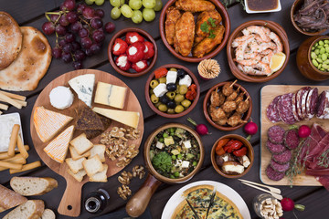 Tapas food table