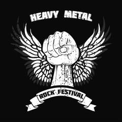 heavy metal fist simple