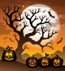 Pumpkin silhouettes theme image 6
