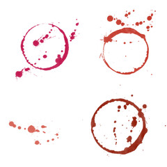 Red Wine Stains Grunge and Dots