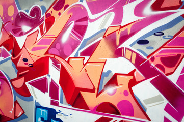 Pink colors graffiti.