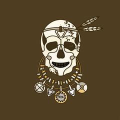 Vector skull logo.