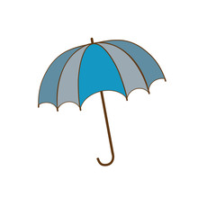 Umbrella blue sign