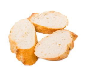 Bread the cut baguette