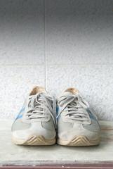 vintage grey shoes
