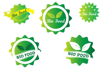 Bio Food Badge Logo Design