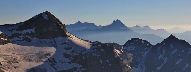 Tete Ronde and Dents du Midi, high mountains