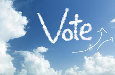 Vote written in the sky