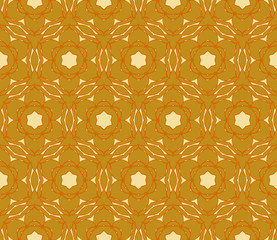 Abstract Floral pattern. golden color. Vector illustration. Geometry style.