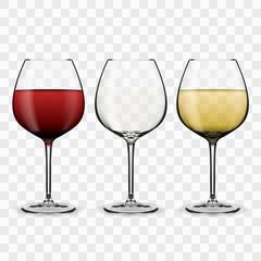 Tree Glasses With Wine