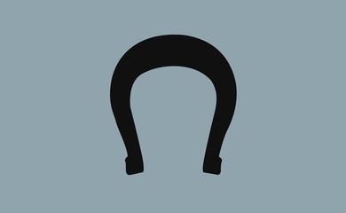 Vector horseshoe symbol on flat background