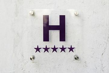 Luxury hotel sign