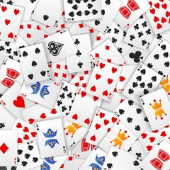 Poker card scattered background