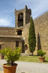 Castle, Montalcino, Tuscany, Italy, RF