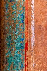 China, Beijing, Forbidden City, Palace of Heavenly Purity, fading Wall decoration