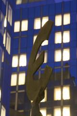 Euro symbol, European Parliament, Brussels, Belgium