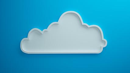Cloud blue background 3d render