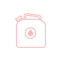 Stylized icon of the canister of gasoline