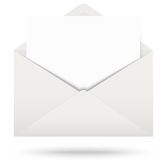 Envelope with notepad