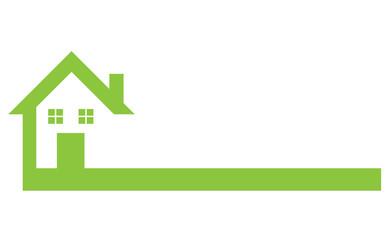 Logo House abstract real estate - grün