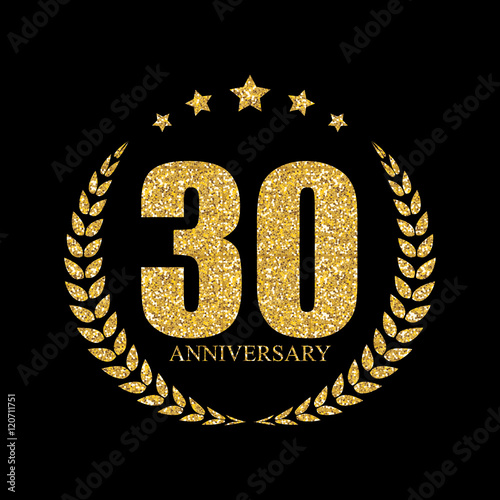 Template logo 30 years anniversary vector illustration quot stock image