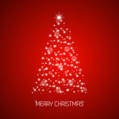 Christmas tree from stars, Merry Christmas