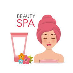 beauty spa set flat icons vector illustration design