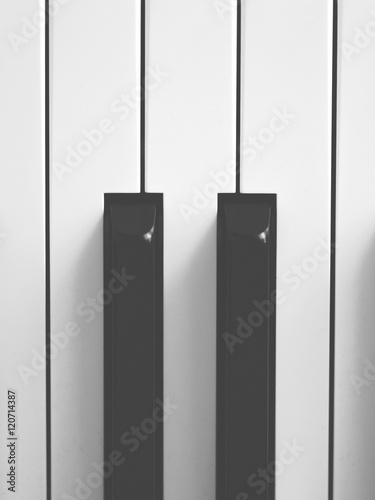 Closeup Of A Piano Keyboard The Two Black Keys Symbols As The Two