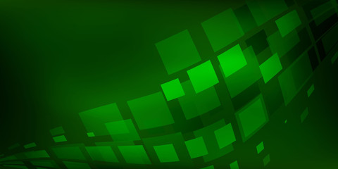 Green Background abstract with lighting lines digital concept