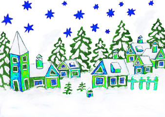 Christmas picture, painting