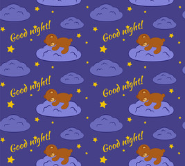 Good night seamless pattern.