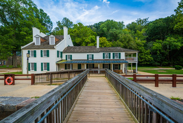 The Great Falls Tavern Visitor Center, at Chesapeake & Ohio Cana