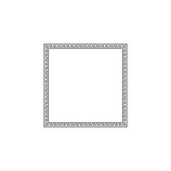 Greek style ornamental decorative frame pattern isolated. Greek Ornament. Vector antique frame pack. Decoration element patterns in black and white colors. Ethnic collections. Vector illustrations.