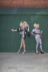 Portrait of two drag queens