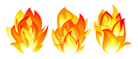 Three fire icon