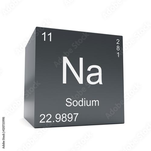 Sodium chemical element symbol from the periodic table displayed on sodium chemical element symbol from the periodic table displayed on black cube urtaz Choice Image