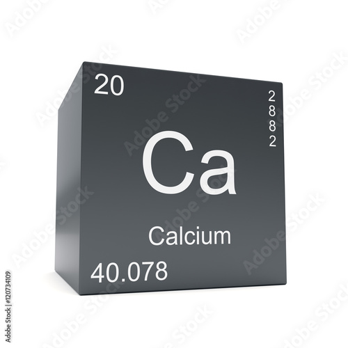 Calcium Chemical Element Symbol From The Periodic Table Displayed On