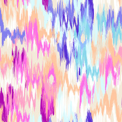 colorful ikat painted texture - seamless background