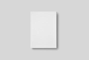 Photorealistic Book Mockup on light grey background. 3D illustration. High Resolution Texture. Mockup template ready for your design.