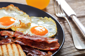Papiers peints Ouf Fried eggs and bacon