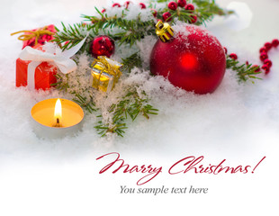 Christmas greeting card - border decoration.