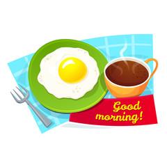 Good morning concept design, vector illustration