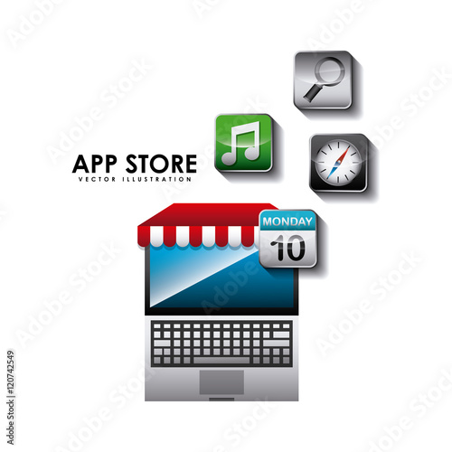 app store set icons vector illustration design. Black Bedroom Furniture Sets. Home Design Ideas