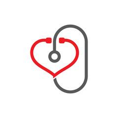 Health Doctor Stethoscope Logo