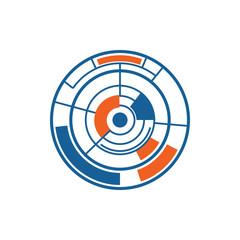 Modern Abstract Circle Data Logo Image Vector Icon