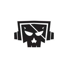 Music Skull Logo Image Vector Icon