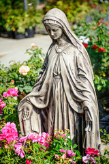 Mary Statue in the Garden