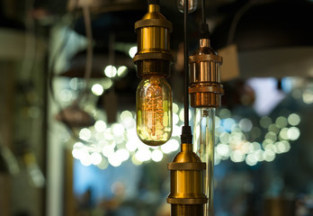 Beautiful Vintage style lamp decor glowing