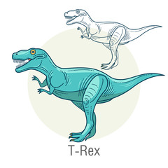Vector image of a dinosaur - Tyrannosaurus.