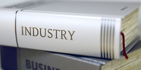 Industry Concept. Book Title. 3D.
